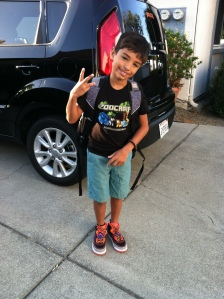 1st day of 3rd grade for this handsome guy.